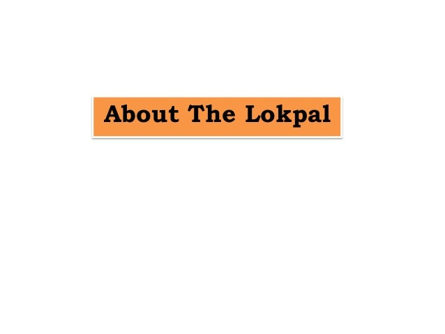 About the lokpal [s