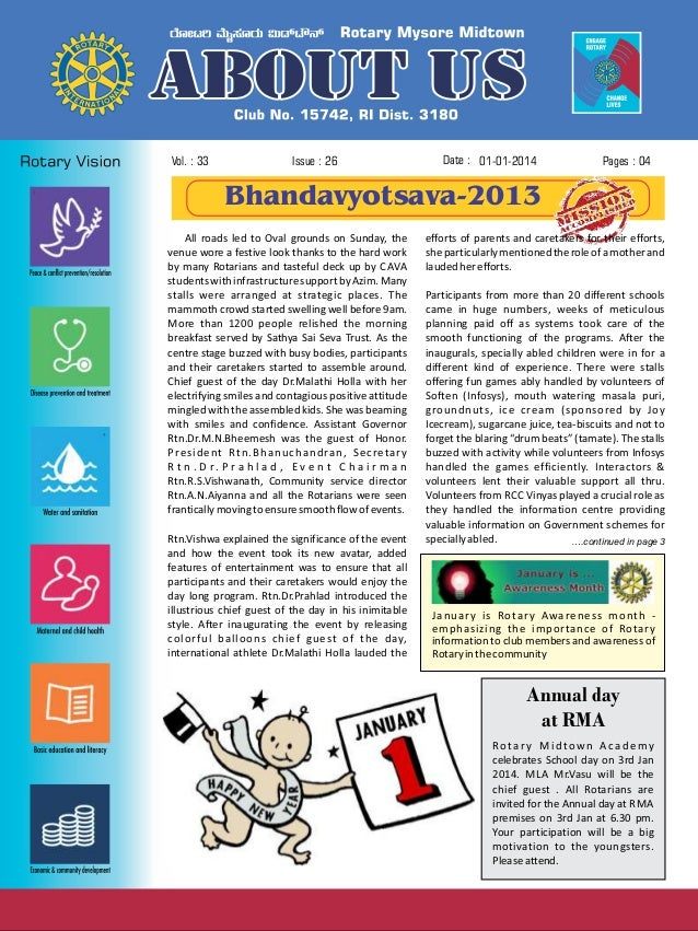 Vol. : 33  Issue : 26  Date : 01-01-2014  Pages : 04  Bhandavyotsava-2013 All roads led to Oval grounds on Sunday, the ven...