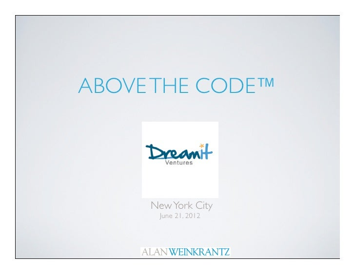 Above the Code Dreamit Ventures New York