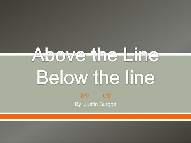 Above the line project for Mr. Haymores class