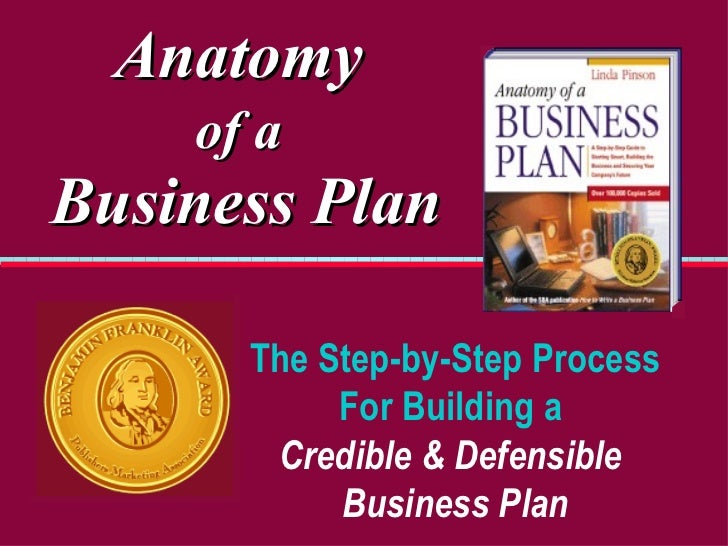 Anatomy   of a   Business Plan The Step-by-Step Process For Building a  Credible   & Defensible   Business Plan