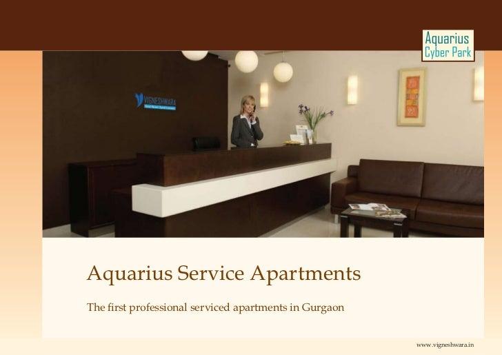 Aquarius Service ApartmentsThe first professional serviced apartments in Gurgaon                                          ...