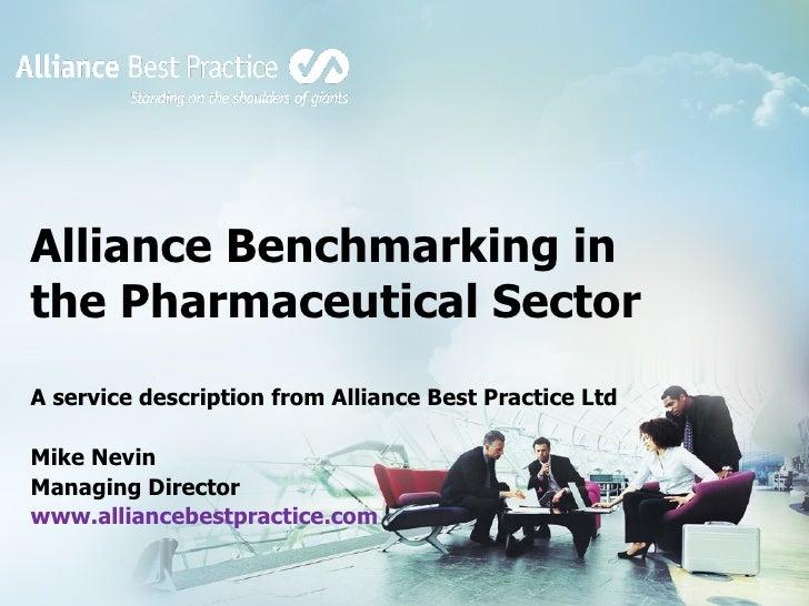 Alliance Best Practice Benchmarking Offering Pharma Sector
