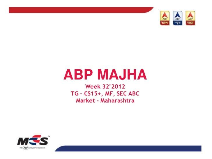 Abp majha research snapshot week 3212