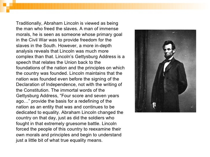 an analysis of abraham lincoln as a model of the transcendentalist way of thinking Society, culture, and reform, 1820-1860 they argued for a mystical way of thinking as a means for discovering one's inner the best-known transcendentalist.