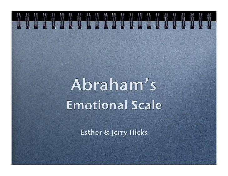 Emotional Scale Emotional Scale