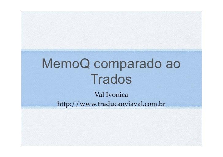 memoQ - Congresso da Abrates
