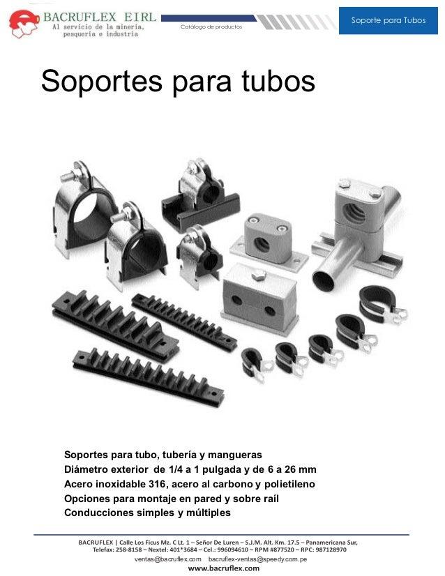 Abrazaderas soporte para tubos - Abrazaderas para tubos ...