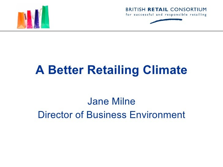 A Better Retailing Climate April 30 Launch