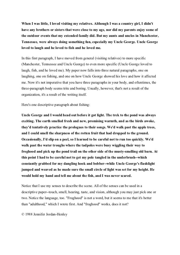 short essay describing Writing a short story 13  descriptive essay samples - page 2  look at our samples of descriptive essays to understand how to write them on your own.