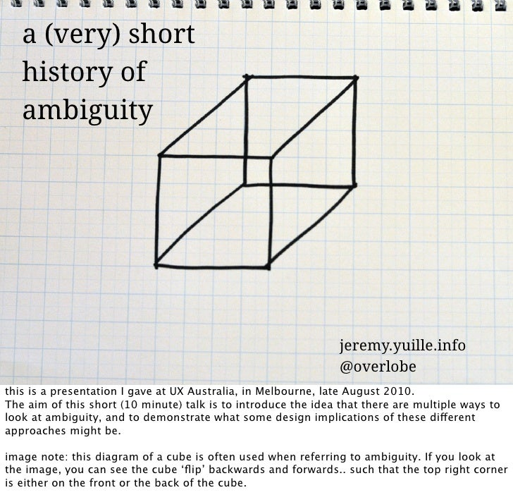 A (very) short history of ambiguity