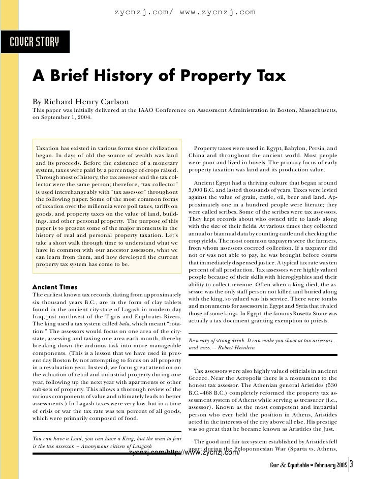 A brief history of property tax
