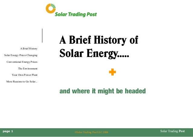 Brief history of solar energy