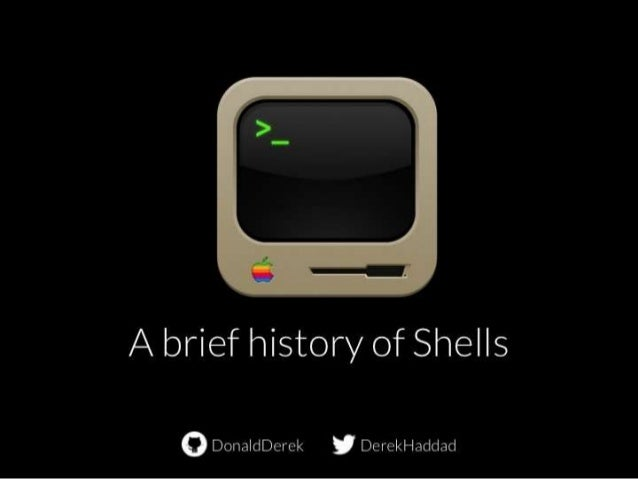 A brief history of the shell script (scripting languages)