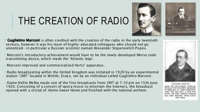 brief history of radio broadcasting 1 a brief history of radio broadcasting in africa radio is by far the dominant and most important mass medium in africa its flexibility, low cost, and oral character meet africa's situation.