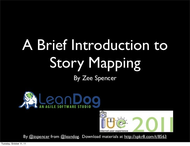 A (Brief) Introduction to Story Mapping