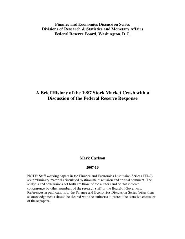 Finance and Economics Discussion Series Divisions of Research & Statistics and Monetary Affairs Federal Reserve Board, Was...