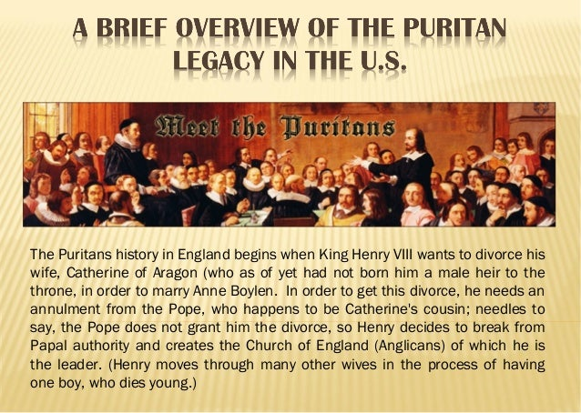 A brief overview of the puritan legacy in