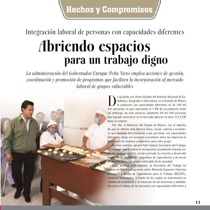 Hechos y Compromisos  Integración laboral de personas con capacidades diferentes        Abriendo espacios                 ...