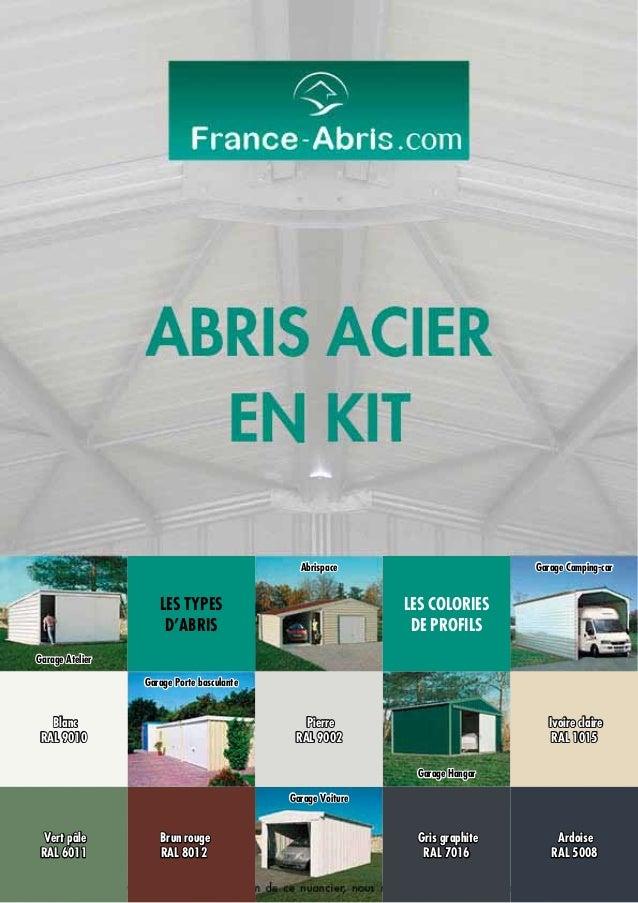 Abrispace  Les types d'Abris  Garage Camping-car  Les Colories de profils  Garage Atelier Garage Porte basculante  Blanc R...