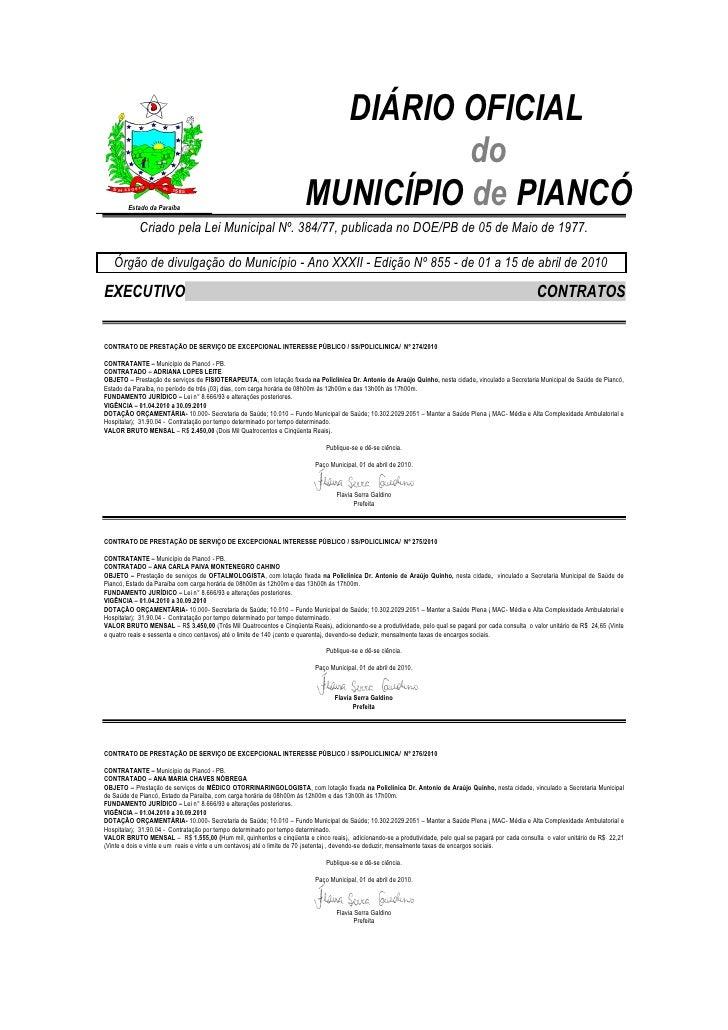 DIÁRIO OFICIAL                                                                                do        Estado da Paraíba ...