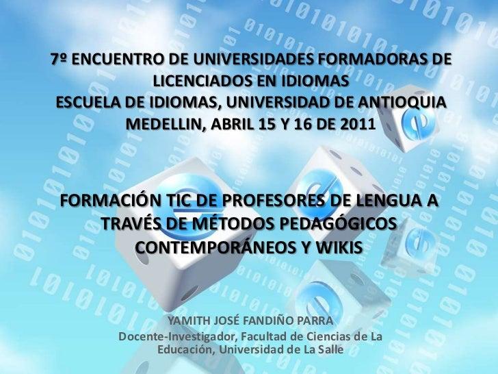Formación TIC de profesores de lengua a través de métodos pedagógicos contemporáneos y WIKIS