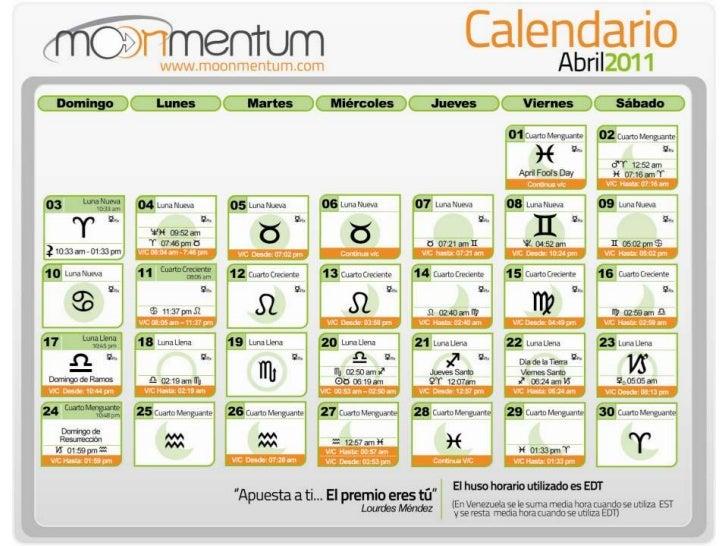 Calendario de Abril 2011
