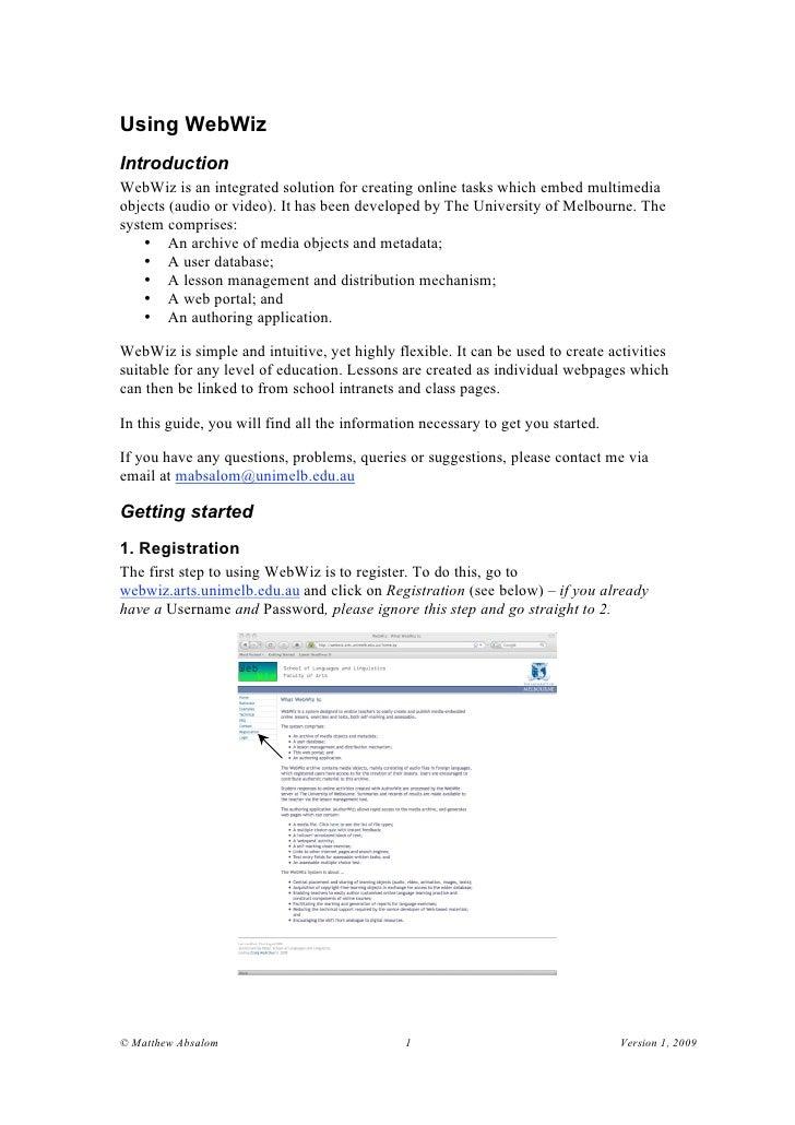 Webwiz: creating online multimedia tasks the easy way