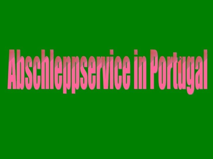Abschleppservicein portugal 1