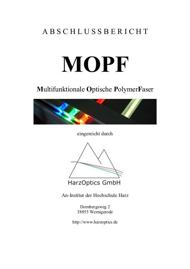 Abschlussbericht MOPF