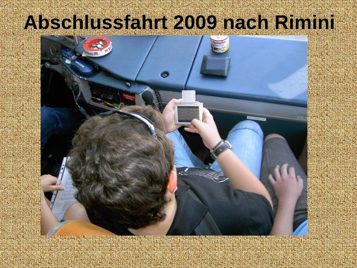 Abschlussfahrt 2009 nach Rimini