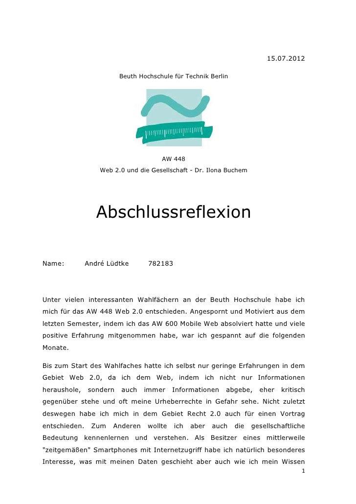 15.07.2012                         Beuth Hochschule für Technik Berlin                                      AW 448        ...