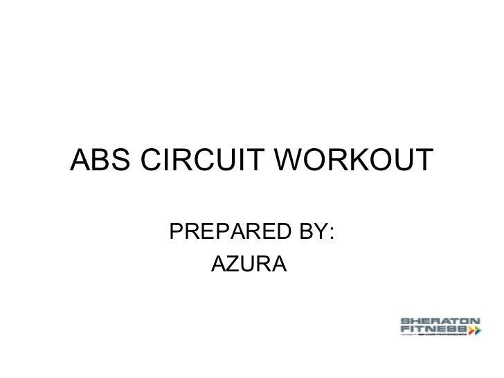 Abs circuit workout
