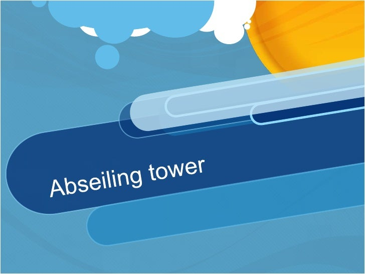 Abseiling Tower Briefing with Audio