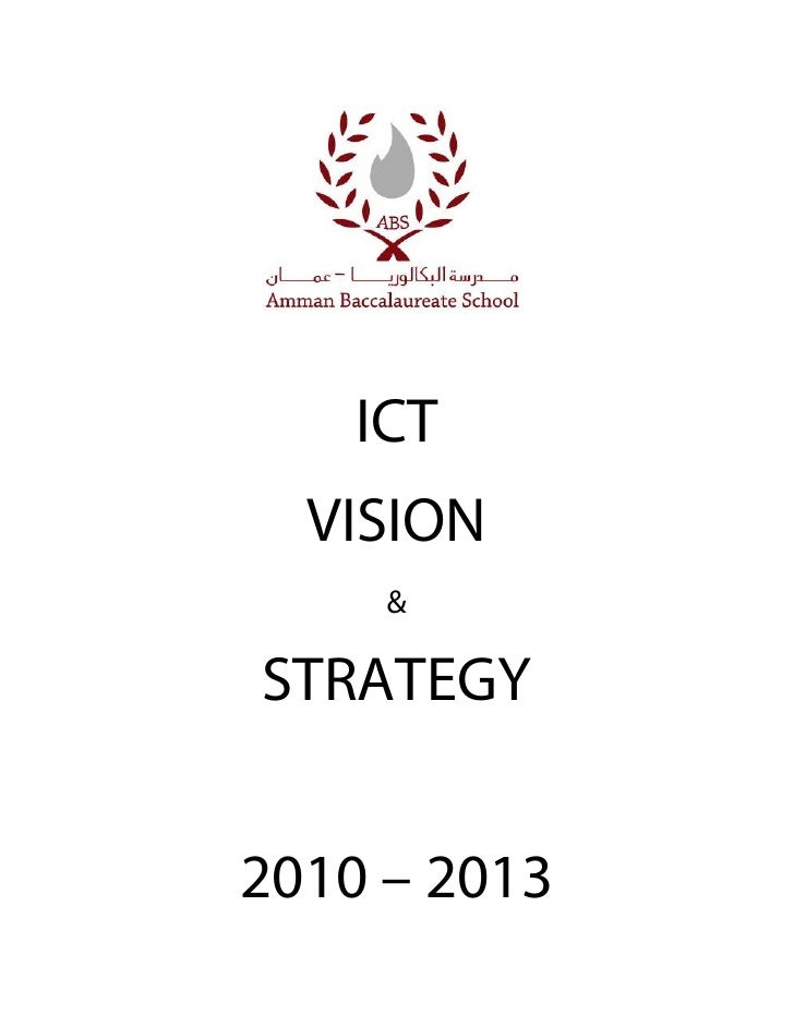 Abs ict vision and strategy 2010 2013