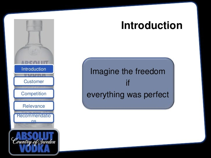 Introduction Introduction                 Imagine the freedom  Customer                           if Competition    everyt...