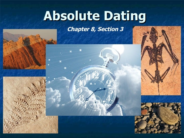 Absolute Dating 8.3