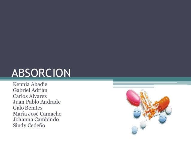 Absorcion Farmacologica