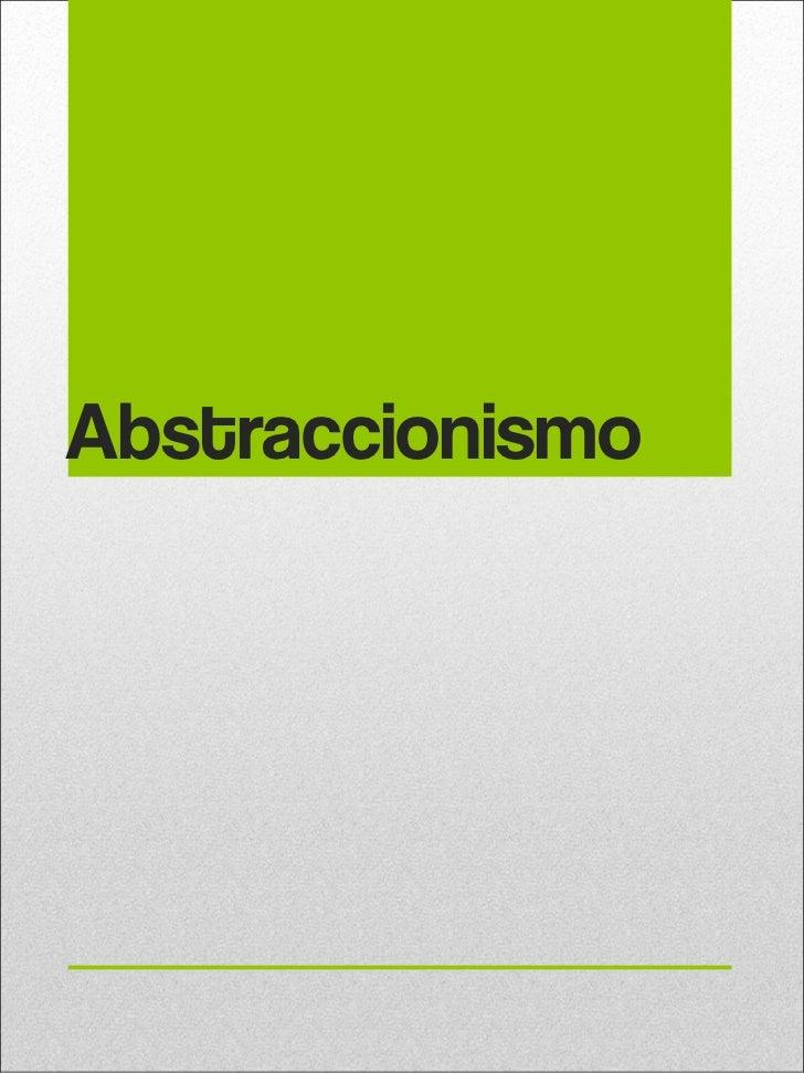 Abstraccionismo