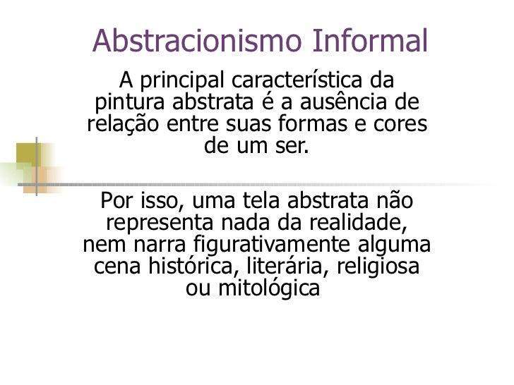 Abstracionismo  Informal