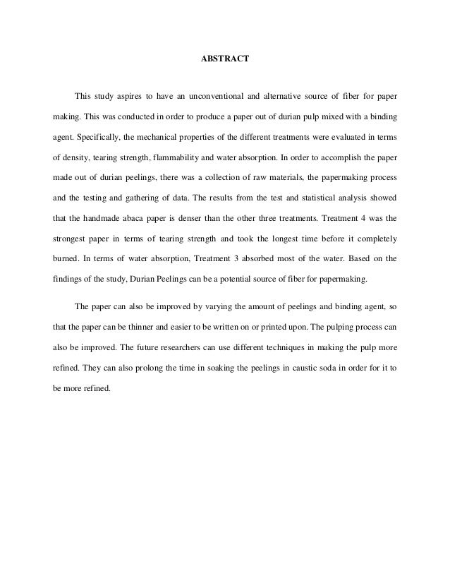 abstract of thesis paper