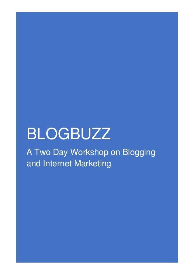 BlogBuzz Workshop Details
