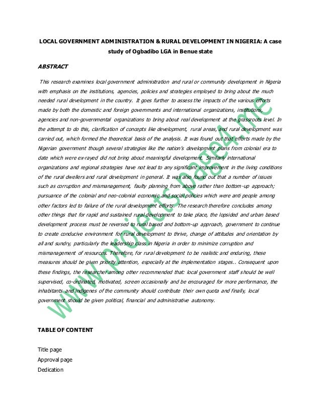 Literature review on malaria in nigeria