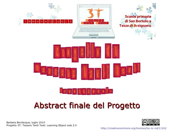 Abstract finale del Progetto