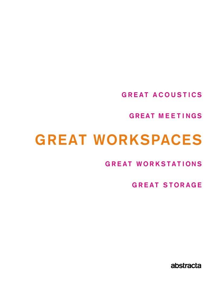 Acoustics 8Design Thinking #1 18Design Thinking #2 22    Meetings 40  Workstations 56Design Thinking #3 64     Storage 68D...