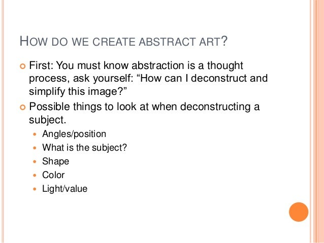 How to do a abstract