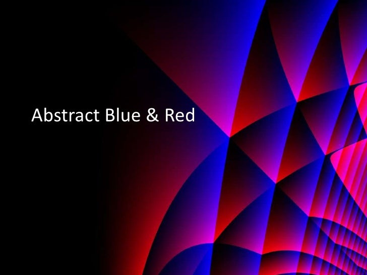 Abstract Blue & Red