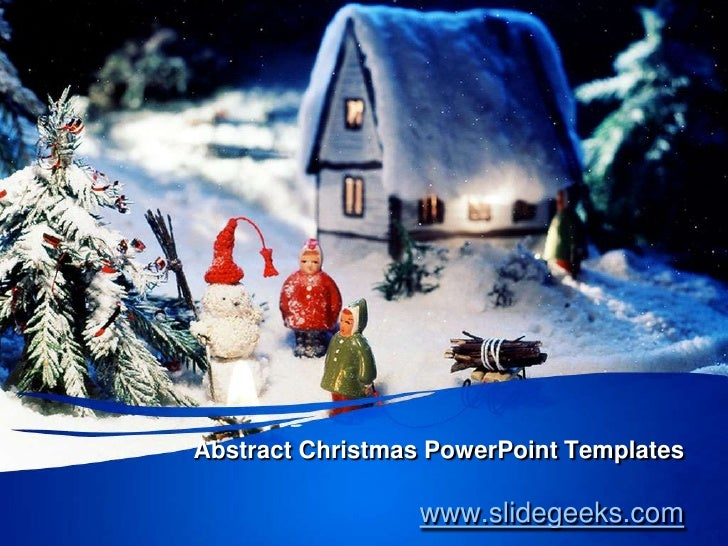 Abstract christmas power point templates