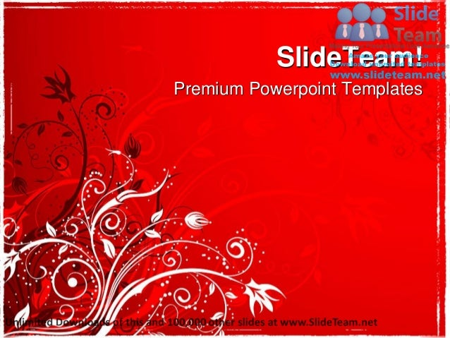 Abstract floral background power point templates themes and backgrounds graphic designs