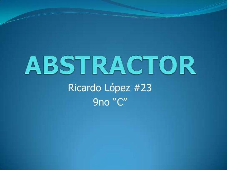 """Ricardo López #23      9no """"C"""""""